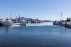 Bermagui river marina wharfs Royalty Free Stock Photography