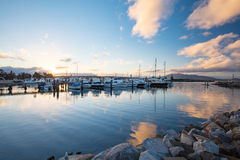Bermagui Wharf and Marina Royalty Free Stock Images