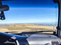 Bermamyt-Bergplateau durch Windfang stockbild