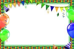 Berömbakgrund med karnevalballonger Arkivfoto
