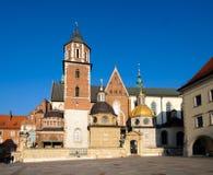 Berömd gränsmärkeWawel slott Arkivbild