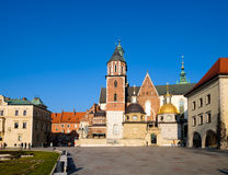 Berömd gränsmärkeWawel slott Arkivfoto