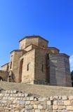 Berömd Jvari kyrka i Georgia Arkivbilder