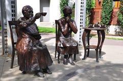 berömd staty fem Arkivfoton