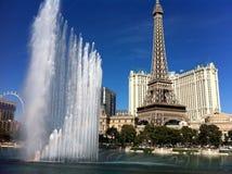 Berömda Las Vegas Bellagio springbrunnar Arkivfoto
