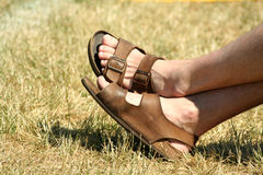 berömda sandles Fotografering för Bildbyråer
