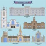 Berömda ställen i Förenade kungariket Arkivfoton
