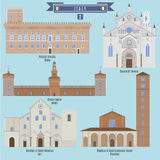 Berömda ställen i Italien Arkivfoto