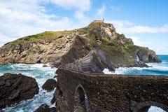 Bermeo, βασκική χώρα, Ισπανία: Μοναστήρι του San Juan de Gaztelugatxe στοκ φωτογραφίες