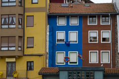 Bermeo. Traditional buildings in the port Stock Images