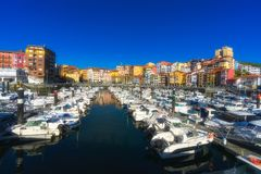 Bermeo port in Basque Country. Bermeo port in the Basque Country royalty free stock images