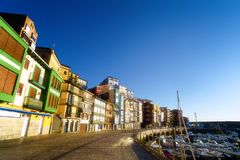 Bermeo port and houses Royalty Free Stock Image