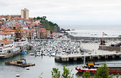 Bermeo. SPAIN - JULY 3: The modern port of . One of the most famous ports in the Basque Country July 3, 2013 in , Basque Country, Spain Stock Image