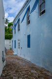 Bermuda Alley. Light architecture on St. Georges in Bermuda Royalty Free Stock Image