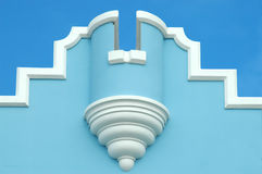 Bermuda Architecture. Nice blue example of traditional Bermudan architecture stock image