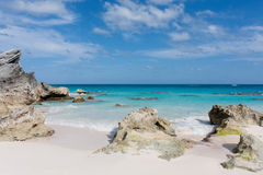 Bermuda beach. View of a deserted beach in Bermuda Royalty Free Stock Photo