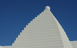 Bermuda Buttery. A typical White Bermuda Buttery Roof, against a deep blue sky Stock Images