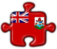 Bermuda button flag puzzle shape Royalty Free Stock Photos