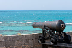 Bermuda canon. Canon at The Commissioner's House in Bermuda royalty free stock photo