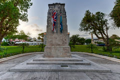 Bermuda Cenotaph. The Bermuda Cenotaph located outside the Cabinet Building of Bermuda, in Hamilton. The Cenotaph is a memorial for those who died for Bermuda royalty free stock photos