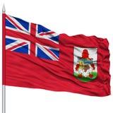 Bermuda Flag on Flagpole Stock Image