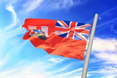 Bermuda flaga Zdjęcia Royalty Free