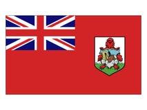 bermuda flagga royaltyfri illustrationer