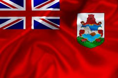 Bermuda flaggaillustration royaltyfri illustrationer