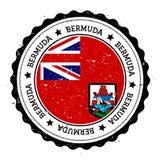 Bermuda-Flaggenausweis Stockbilder