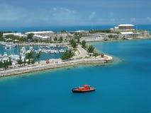 bermuda görar till kung hamnplatsen Arkivfoton