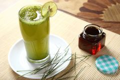 Bermuda grass juice, Arugampul Juice royalty free stock photos