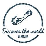 Bermuda-Karten-Entwurf Weinlese entdecken die Welt Stockfoto