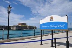 Bermuda maritimt museum & kommissionärs hus arkivbilder