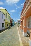 Bermuda. Bermudas many narrow, colorful streets Stock Photos