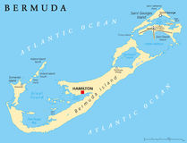 Bermuda Political Map Stock Image