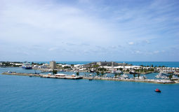 Bermuda Port. The view of Royal Naval Dockyard, XIX century fort that became the port of Bermuda Islands Royalty Free Stock Photo