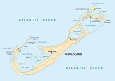 Bermuda road map Royalty Free Stock Images