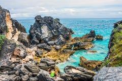 Bermuda Rockowe formacje Zdjęcie Royalty Free