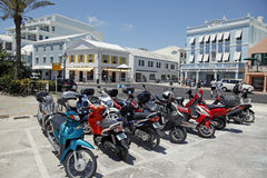 Bermuda  Scooters Stock Photos