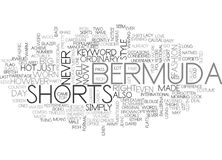 Bermuda Shorts Word Cloud. BERMUDA SHORTS TEXT WORD CLOUD CONCEPT Stock Photos