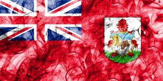 Bermuda smoke flag, British Overseas Territories, Britain depend. Ent territory flag Royalty Free Stock Images