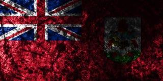 Bermuda grunge flag on old dirty wall, British Overseas Territories, Britain dependent territory flag. Bermuda smoke flag, British Overseas Territories, Britain stock illustration