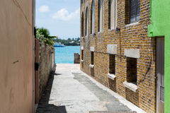 Bermuda St George. Street to the Ocean Royalty Free Stock Images