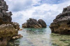 Bermuda strand. Arkivbild