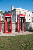 Bermuda telephone boxes Royalty Free Stock Photography