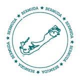 Bermuda-Vektorkarte Stockfoto