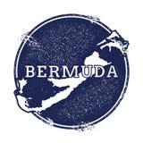 Bermuda-Vektorkarte Stockbild