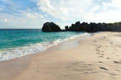 Bermuda Warwick Long Bay Beach Stock Image