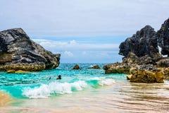 Bermudas que bucean Fotografía de archivo libre de regalías