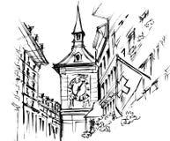 Bern's clock tower, 'Zytglogge' Royalty Free Stock Photo